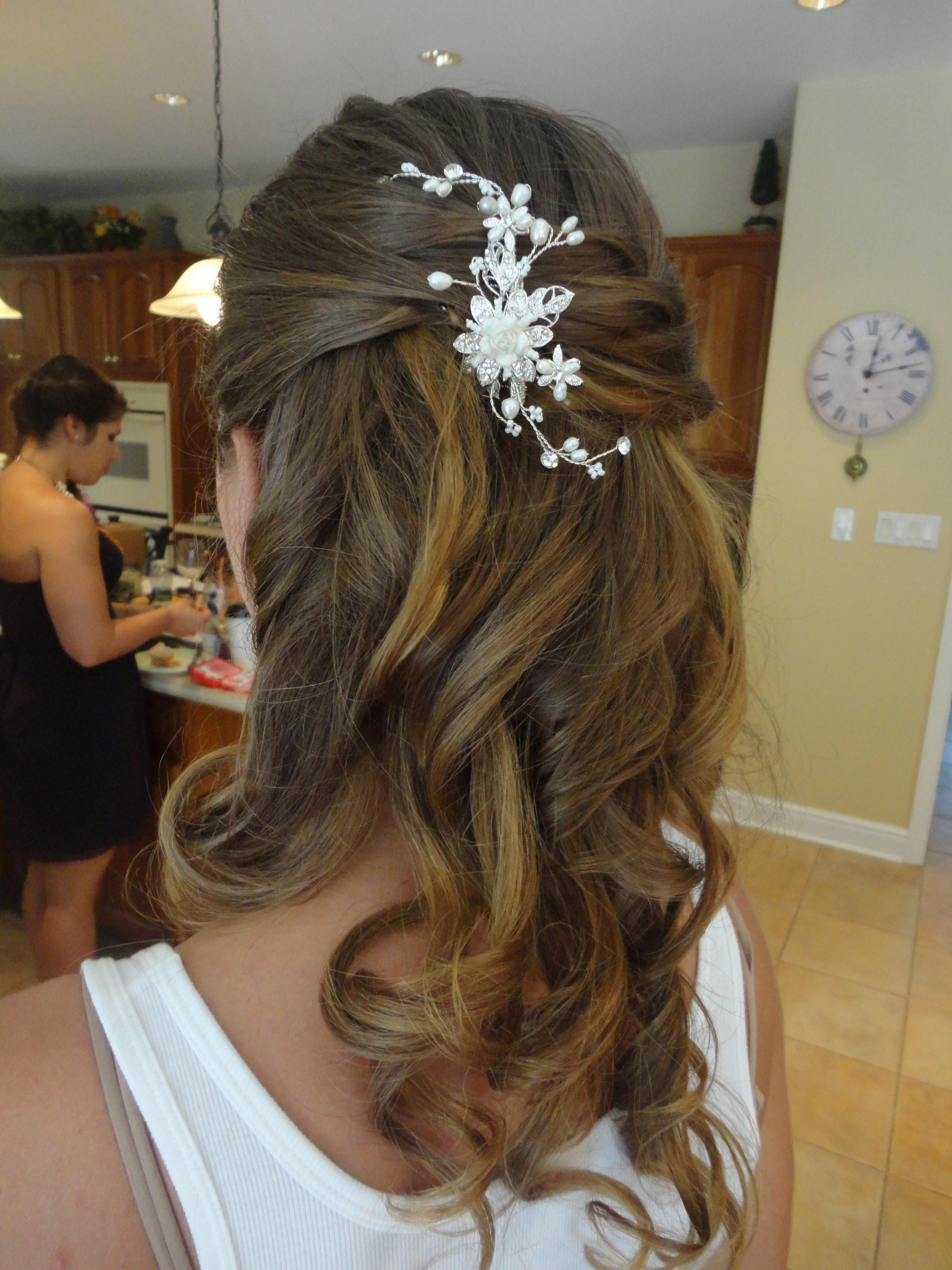 Half Up Half Down Wedding Hairstyles With Headband Wedding hair design ...